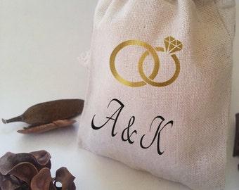 Wedding ring bag, ring bearer, ring bag, wedding ring holder, ring bearer gift, wedding, ring warming, wedding rings, wedding rings pouch