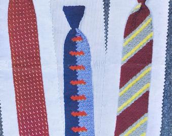 Vintage Crocheted Mens Fashion Tie Patterns | Seventeen Retro Mid Century Design Styles for Men & Boy's PDF ePattern Instant Download
