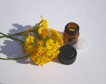 1/4 Dram AMBER Glass Vial for Essential Oil Samples, 210 bottles, reducer orifices, and protective caps