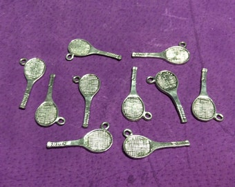 Tennis Racquet Pewter Charms