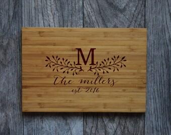 Custom Cutting Board , Engraved Cutting Board, Personalized Cutting Board, Wedding Gift, Housewarming Gift, Personalized Cheese Board