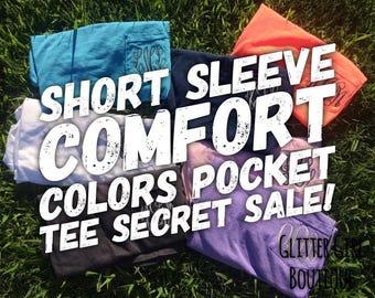 SHORT SLEEVE Comfort Colors Sale, Comfort Colors TShirt, Monogram Comfort Colors Tee, Personalized Comfort Colors, Gifts for Friends