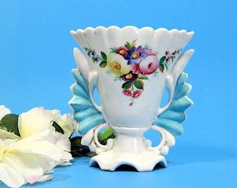 Antique Hand Painted Old Paris Porcelain Wedding Vase