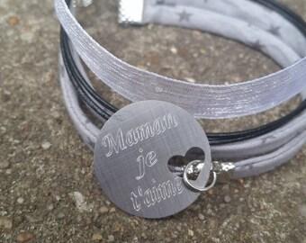 bracelet multi rangs à graver