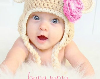 CROCHET Hat PATTERN - Sweet Monkey Hat - Sizes from preemie to adults - PDF 114 - Sell what you Make