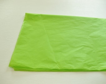 """10 Sheets of Lime Green Tissue Paper (20"""" x 26"""")"""
