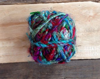 Blue Multi-Colour Recycled Silk String Twine Yarn Fair Trade Ethical Sustainable