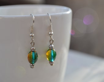 Sea Inspired Glass bead Earrings, Jewellery, Gift