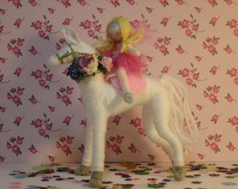 Fairy Horse and Fairy set of dolls
