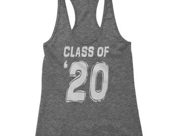 Class of 2020 Graduation Racerback Tank Top for Women