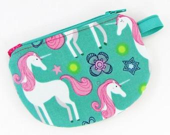 Unicorn, change purse, credit card case, business card holder, womens change purse, credit card wallet, mini wallet, minimalist wallet