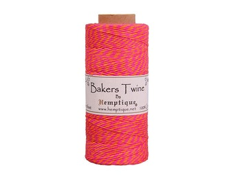 Neon Pink & Neon Orange Bakers Twine Spool
