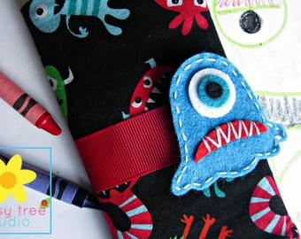 Crayon Roll, Crayon Wallet, Crayon Caddy, Crayon Holder, Crayon Roll Up, Crayon Keeper, Crayon Organizer, Crayon Tote, Aliens, Monsters