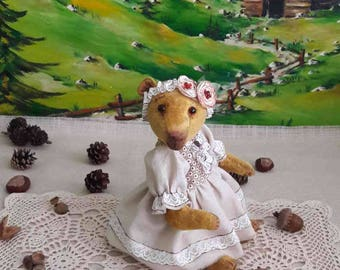 Handmade teddy Bear Plush toy Collectible toy interior toy teddy Bear Plush bear
