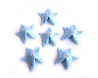 Star Felt Fortune Cookies, Light Blue Felt Fortune Cookies, Wedding Felt Fortune Cookies, Light Blue Party Favors, Winter Wedding Favors
