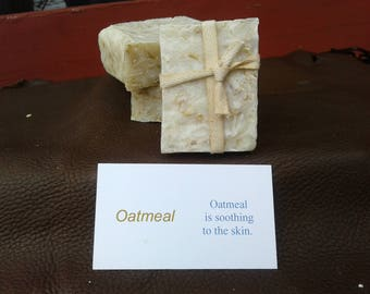 Oatmeal Soap, Cold Process, All Natural, 18th Century Style
