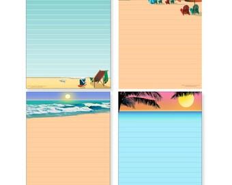Beach Note Pads - 4 Fun Designs