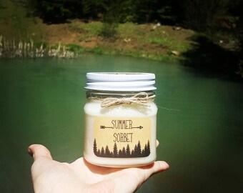 Summer Sorbet wood wick soy wax candle