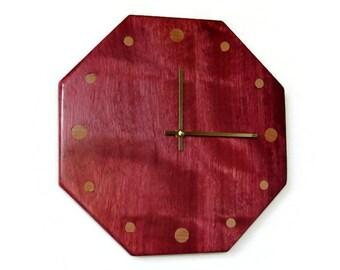 Custom Father's Day, Rustic Wood Decor, Wall Wall Clocks