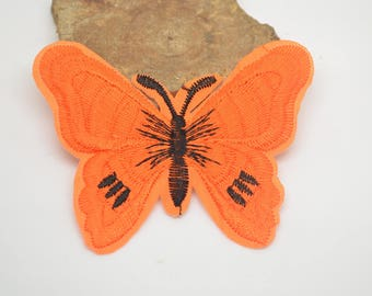 coat 7.5x6 fusible cm or for other orange Butterfly
