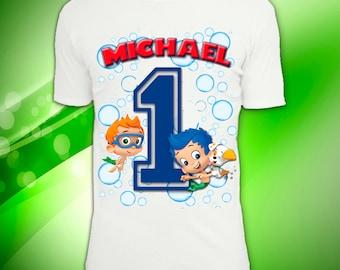 Digital file, Bubble Guppies Birthday Shirt, Bubble Guppies Personalized Birthday Shirt, Custom Birthday Shirt Bubble Guppies,  Bubble Gupp