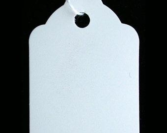 "Paper String Tag 1-1/4"" x 1-1-7/8"" White (Pkg of 1000)  (DTA1204)"
