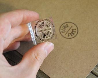 "Custom Rubber Stamp (Just under  1"" x 1"" )"
