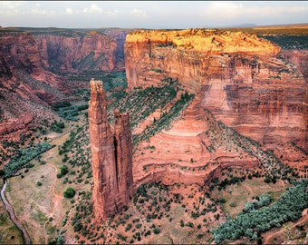 Spider Rock in Canyon De Chelly National Monument in Arizona. Wall art décor landscape photography for your living room, bedroom or office.