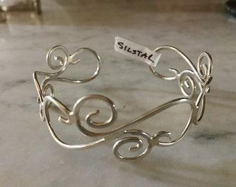 """Sterling Silver """"Swirley"""" Cuff Bracelet"""