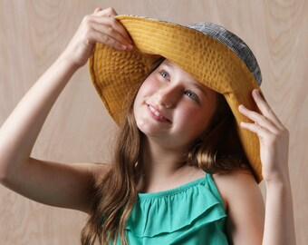 Tween Sun Hat Sewing Pattern, Kids Sun Hat Sewing Pattern, Women's Sun Hat Sewing Pattern, Sun Hat Sewing pattern, hat sewing pattern