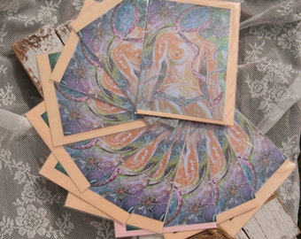 10 Art cards: Pink Ribbon ~ The Beauty v D female-breast cancer survival-strength/breast cancer/By the ribbon/bare breasts 23