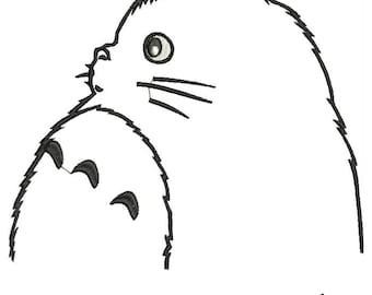 My Neighbor Totoro Hayao Miyazaki machine embroidery