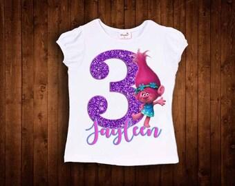inspired by princess poppy birthday shirt