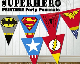 INSTANT DOWNLOAD Superhero Party Banner Super hero Party Banner Super hero Birthday Banner Superhero Party Decorations Superhero baby shower