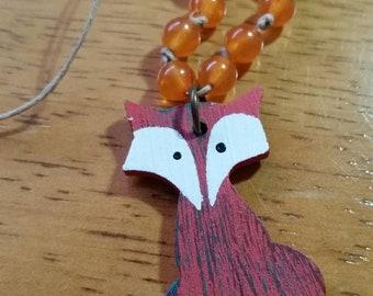 Foxy Orange Necklace