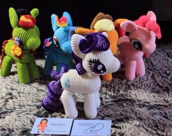 Amigurumis, cuddly, plush, pony, animal, little pony