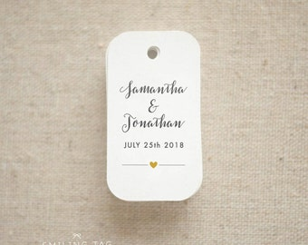 Modern Minimalist Wedding Favor Tags -Personalized Gift Tags -Bridal Shower -Thank you tags- Party Tags Custom Gift Tags - (Item code: J622)