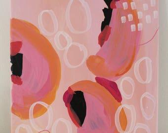 "Acrylic on canvas ""Happy No. 3 ""25 x 30 cm Modern Art contemporary art acrylic original abstract painting on canvas"