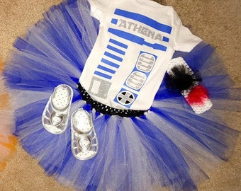 Star Wars-Inspired R2-D2 Bodysuit Outfit Digital Cut File