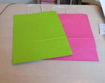 set of 2 bags in kraft paper