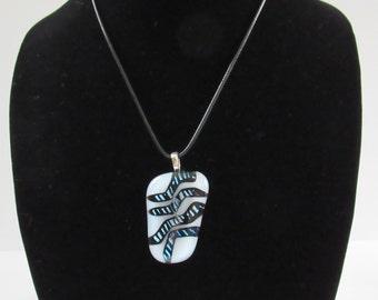 Sale; Dichroic Pendant; Dichroic Necklace; Dichroic Jewelry; Fused Glass Pendant; Fused Glass Necklace; Fused Glass Jewelry/PDZ812