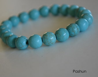 Yoga Stretch Bracelets ... Magnesite Beads (1366)