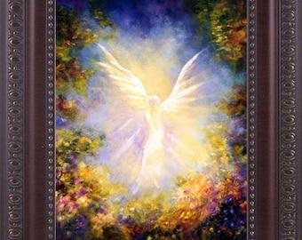 Angel Art Wall decor, Home Decor, Guardian Angel, Angel Painting,