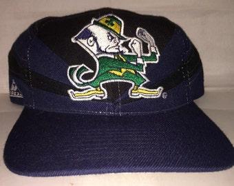 Vintage Notre Dame Fighting Irish Apex One Snapback hat cap rare 90s deadstock ncaa college football rudy