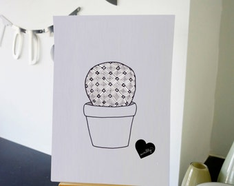 Cactus drawing - number 2 out of 4