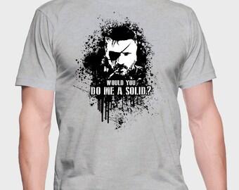 Do Me A Solid - Snake Shirt - Snake Tee - Snake T-Shirt - Solid Snake T-Shirt - Solid Snake Tee - Solid Snake Shirt - Big Boss Tee - Boss