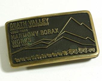 Death Valley National Monument 1933-1983 Harmony Borax Works Belt Buckle
