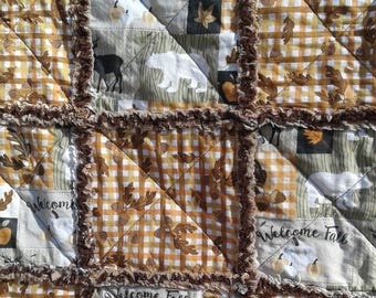 Woodland Welcome Fall Rag Quilt