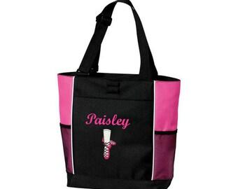 Personalized Irish Dancer Bag * Ghillie Girl Dance Shoes * Irish Step Ghillies * Celtic Folk Tote Bag * Custom Embroidered Gift