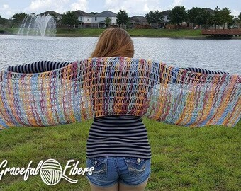 Coral Reef Shawl Crochet Pattern